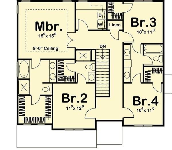 Plan 62570dj family friendly prairie style house plan for Prairie style floor plans