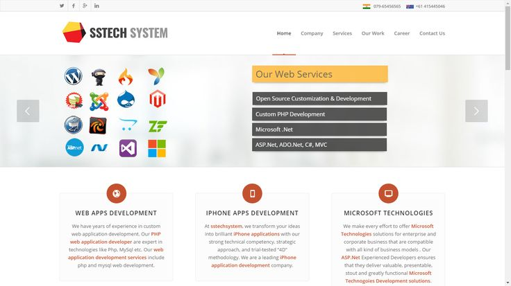 We hold immense specialization in offering tailor-made and quantifiable services in the spheres of eCommerce Website Development, WordPress, Magento, Joomal development, custom web application development, content management system, search engine optimization, internet marketing, mobile responsive website and mobile application development. Please Visit my Website link; http://www.sstechsystem.com/