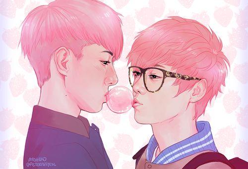 Hunhan fanart: Bubblegum Boys
