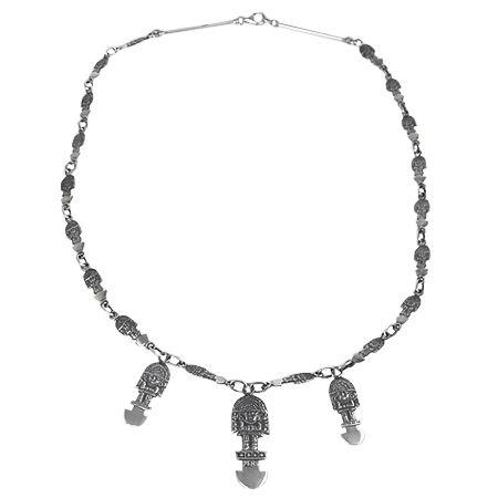 Peruvian Necklace with Tumi