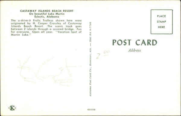 Frolic Trolleys and Miniature Train, Castaway Islands Beach Resort Eclectic, AL