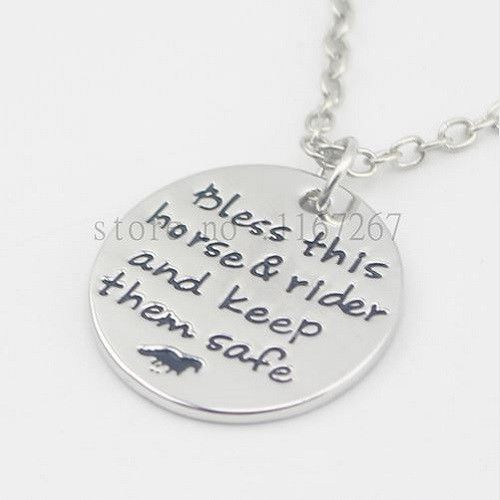 Bless This Horse & Rider - Good Luck Charm Necklace