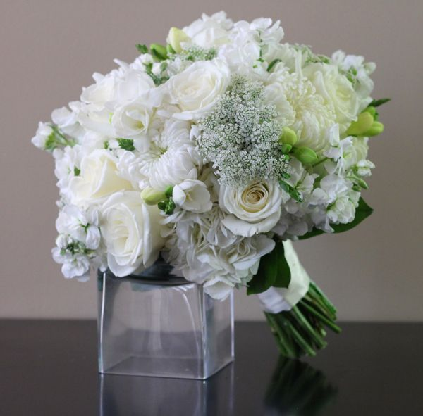 Bridal White Bridal Bouquet from Bridal Flowers to Go! http://www.bridalflowerstogo.com