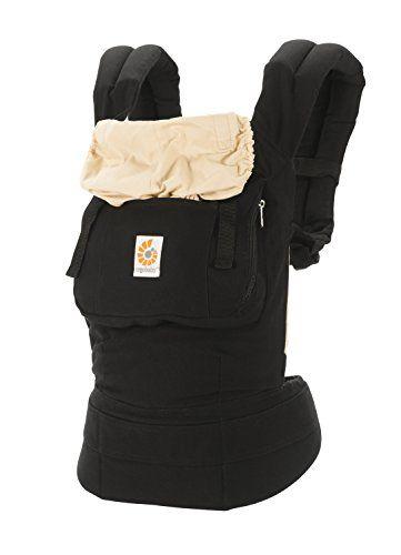 ergobaby porte bebe original noir beige fabrique en toile de coton tres