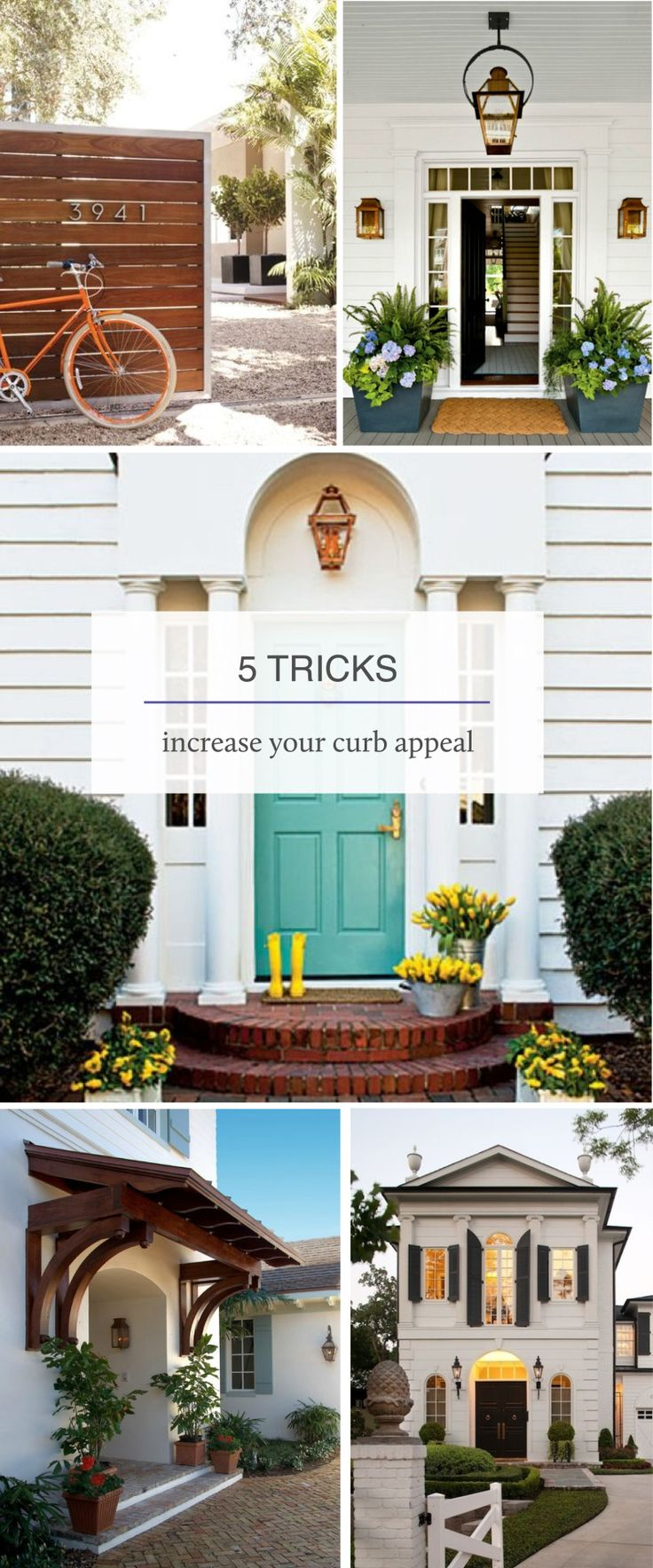302 Best Images About Front Facade Kerb Appeal On Pinterest: 220 Best CURBSCAPING: Curb Appeal With Flowers & Gardens Images On Pinterest