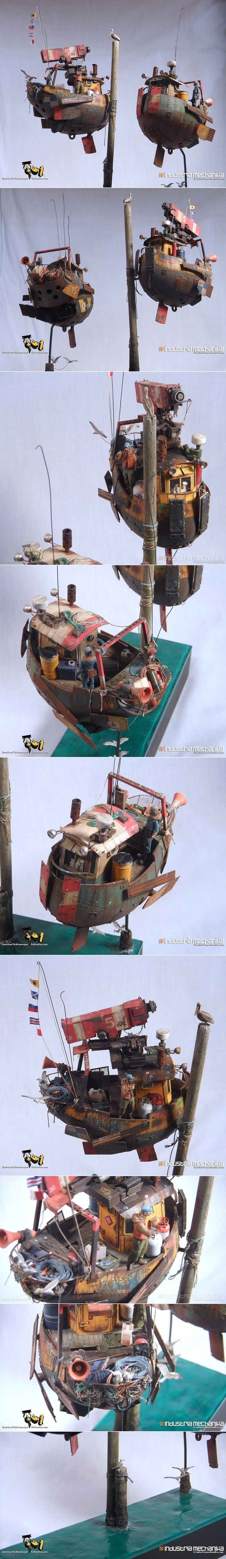 Ian McQue Waldo kit 1/35 scale. Resin, photoetch, laser-cut wood and plastic… http://fichtenfoo.net/blog/completed-ian-mcque-waldos/