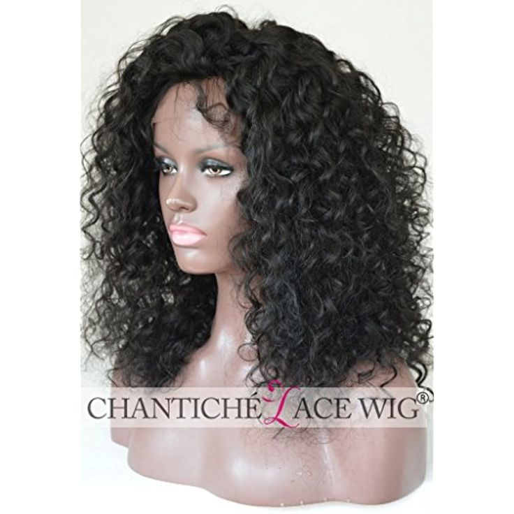Chantiche Peruvian Curly Lace Front Human Hair Wigs for African American Women Glueless Affordable Full Wig Real Looking Remy Hair With Nice Curls 14 inches Natural Color * Want additional info? Click on the image. (This is an affiliate link and I receive a commission for the sales)