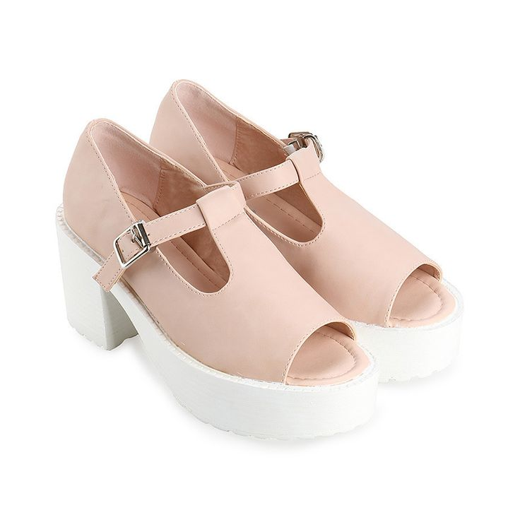 Cute shoes with nude color and white heels, this Ladies Hk Heels by Marc & Stuart, with studs details single closure, perfect shoes to complete your casual style, made form synthetic leather, rubber sole, heels 7 cm. Must have pair! http://www.zocko.com/z/JJYts