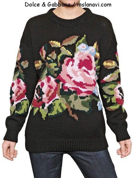 Черный свитер от Dolce & Gabbana