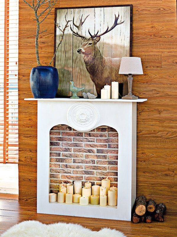 17 mejores ideas sobre chimenea de cart n en pinterest for Chimeneas decorativas falsas