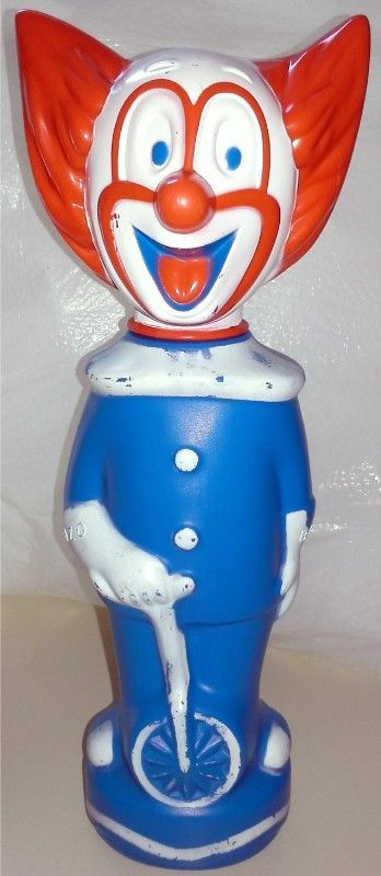 COLGATE-PALMOLIVE: 1960s Bozo the Clown Soaky Bubble Bath Bottle