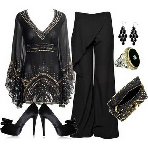 What a gorgeous outfit (reminds me of Arwen!), if a singlet top/camosile was worn under the top :)