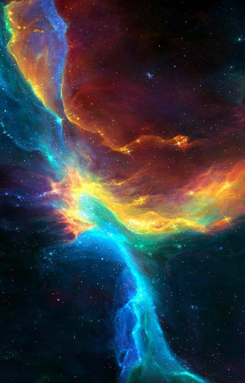 From deep space nature's irridescent palette of radiance! —