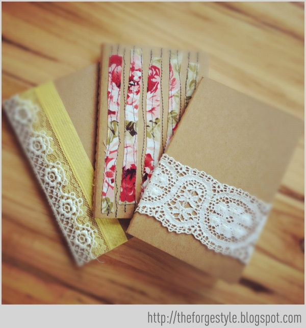 The Forge: {she made it} embellished moleskine notebooks - I love a good notebook!