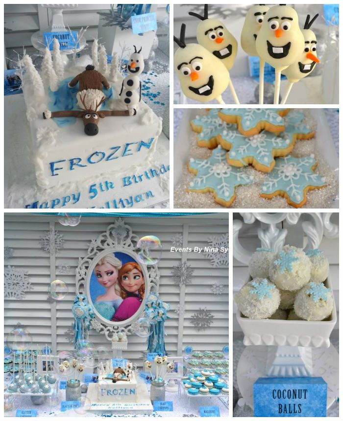Frozen Princess themed birthday party Full of Really Cute Ideas via Kara's Party Ideas! full of decorating ideas, dessert, cake, cupcakes, favors and more! KarasPartyIdeas.com #frozenparty #frozen #frozencake #partyideas #partydecor #partyplanning #partystyling #eventstyling (2)