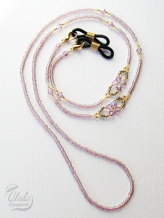 Swarovski Eyeglasses Chain, Eyeglass Holder Necklace, Reading Glasses Chain, Eyeglass Chain, Glass Cord, Glass Lanyard / 29 inch / EGH-2005