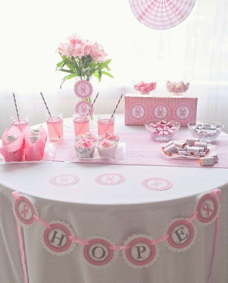 Think Pink! Breast Cancer Awareness Dessert Table | CatchMyParty.com