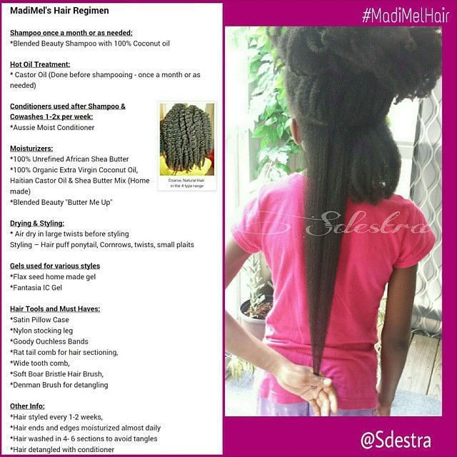 "*NATURAL HAIR REGIMEN Tons have asked about my daughter's #HairRegimen lately. I will use the same hashtag she has for ALL her hair photos so it is easily accessible. Keep in mind it is subjected to change. Also do what works for you, no product is ""one s"