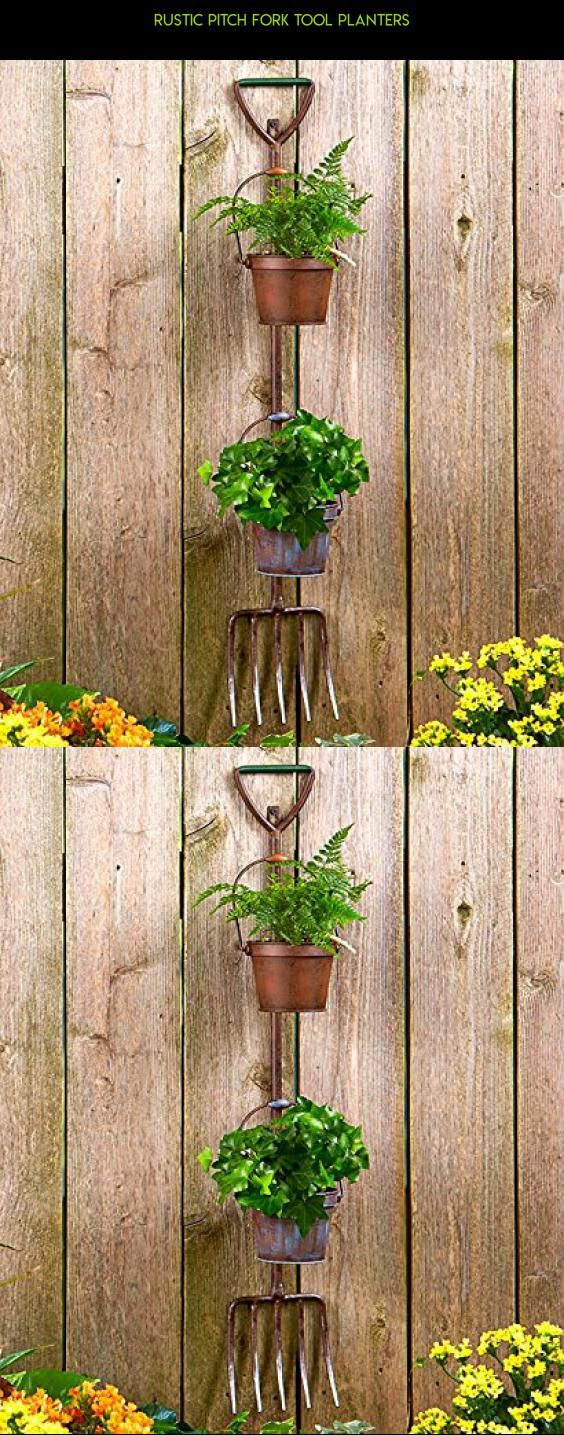 Rustic Pitch Fork Tool Planters #technology #kit #racing #plans #gadgets #outdoor #shopping #tech #decorations #parts #products #drone #fpv #camera