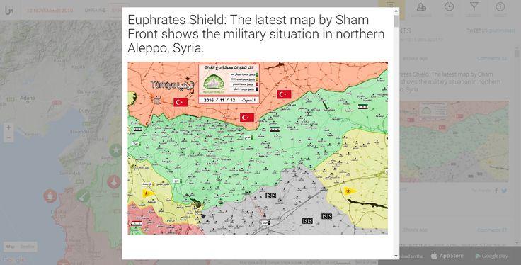Ανανεωμένος Χάρτης Εμπόλεμης Ζώνης στην Συρία 12/11/2016