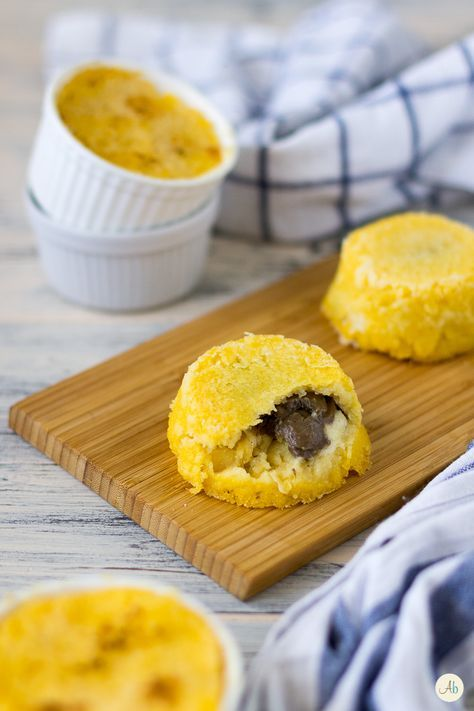 Tortini di polenta con cuore morbido ai funghi
