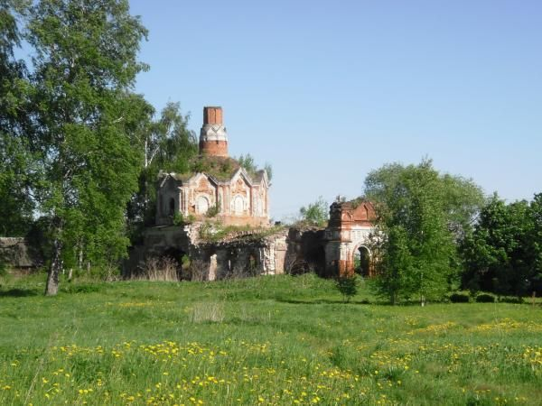 The Tikhvinskaya Church in Gluhovo