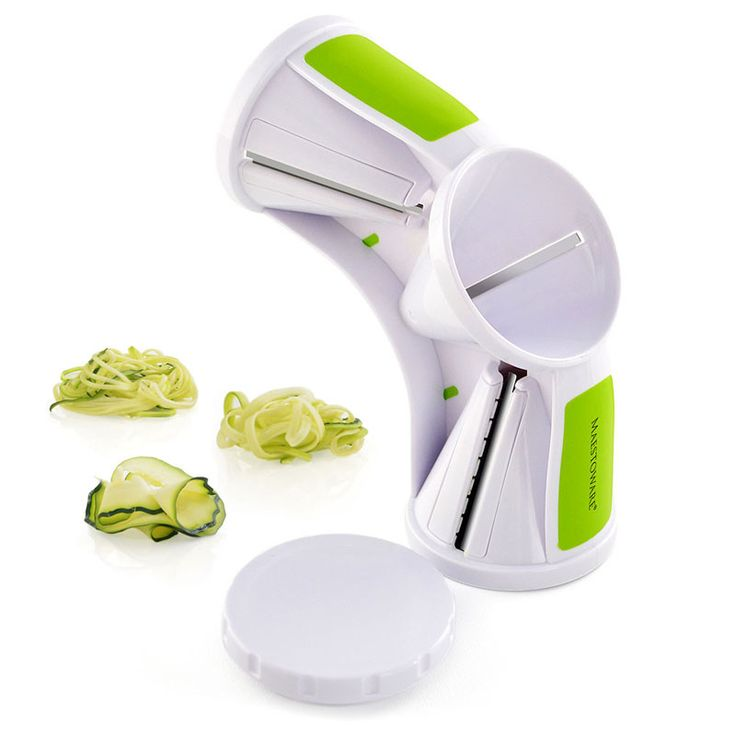 Description With the Maestoware Tri-Blade Spiral Slicer, you can transform zucchini and other vegetables into yummy, nutritious veggie pasta. The vegetable pasta maker allows you to turn veggies into