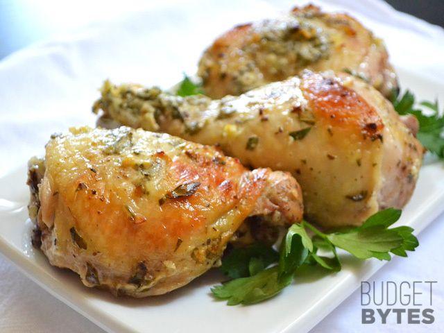 Greek Marinated Chicken - Budget Bytes http://www.budgetbytes.com/2013/06/greek-marinated-chicken/