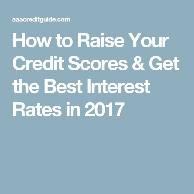 How to Raise Your Credit Scores & Get the Best Interest Rates in 2017