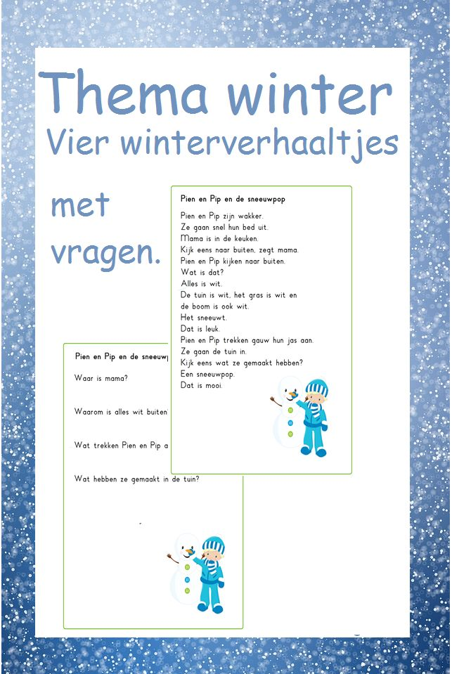 Thema winter - Digibord Onderbouw