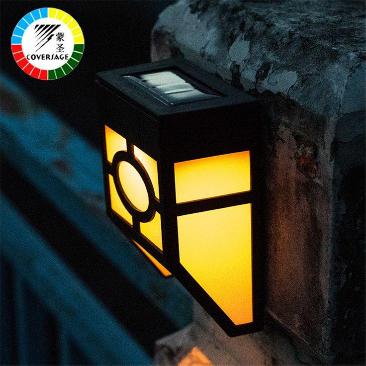 Ideal Coversage Solar led au enleuchte Iluminacion Lampe Warme Wei e Landschaft Wasserdichte Led Solar Energy Wandleuchten
