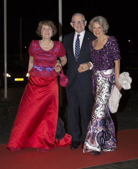 (L-R) Princess Margriet of The Netherlands, Pieter van Vollenhove and Princess Irene of The Netherlands attend a celebration of the reign of Princess Beatrix on 01.02.14 in Rotterdam, Netherlands.