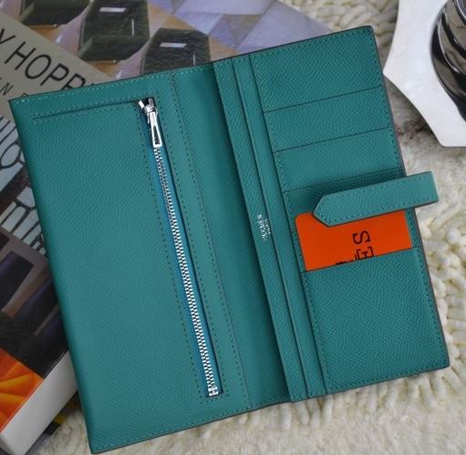 Hermes Bearn Wallet Palegreen