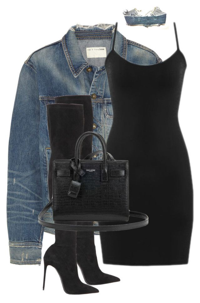 """""""Untitled #3592"""" by xirix ❤ liked on Polyvore featuring rag & bone, Levi's, Le Silla and Yves Saint Laurent"""