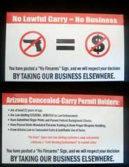No Lawful Carry Means No Business in AZ Cards, Stack of 50  from Armed in Heels...need to get some