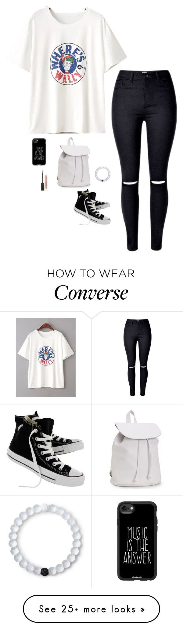 """Untitled #4414"" by if-i-were-famous1 on Polyvore featuring WithChic, Converse, Casetify, Lokai, Burberry and Aéropostale"