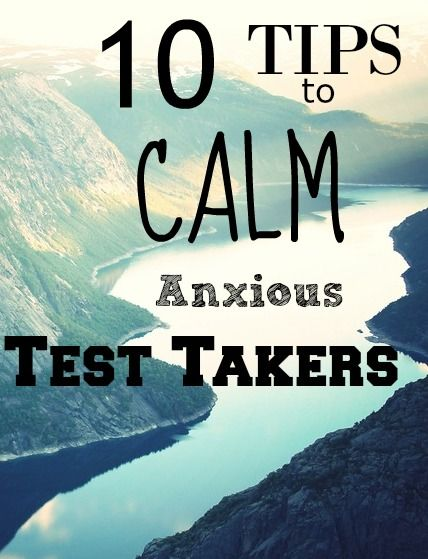 10 Tips to help Calm the Nerves of Anxious Test Takers - this is a great list for both state testing week and just in general for kids that have anxiety when it comes to school and tests! Both teachers and parents can help mirror some of these ideas.