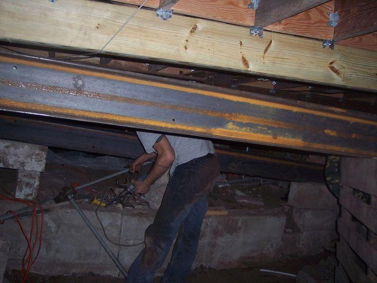 the basement kings steel c channel installation encased around