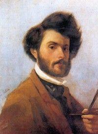 """""""Giovanni Fattori, Self-portrait, 1854"""" (wikipedia)"""