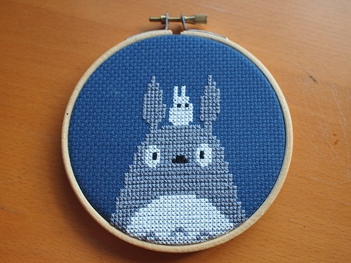 Cross Stitch Totoro.