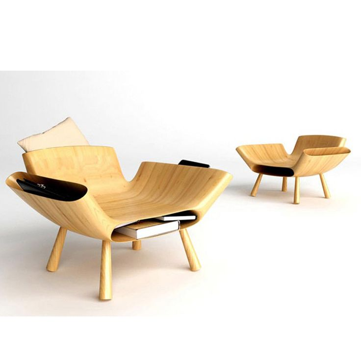 Wood Chair with storage by Teerayut Pengchai, Thailand