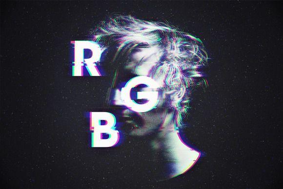 RGB / Glitch Photo FX by dvtchk on @creativemarket