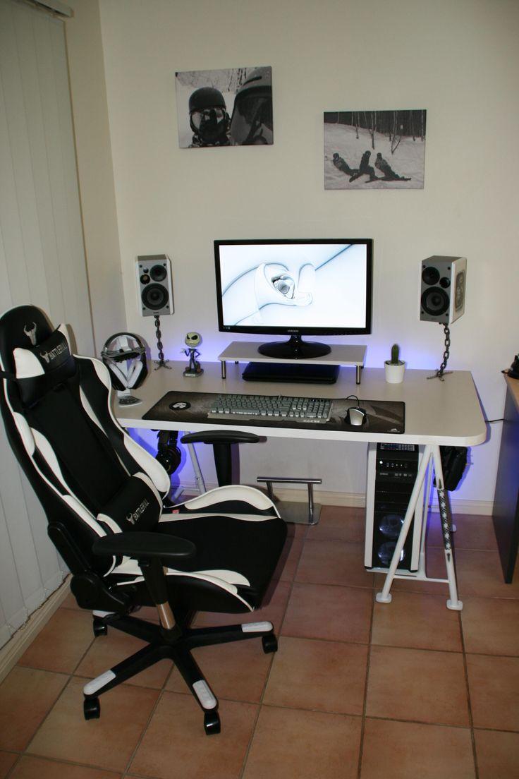 Custom built battlestation desk