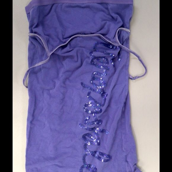 Purple Cami with Built In Bra Purple with sequined letters with built in bra Aeropostale Tops Camisoles