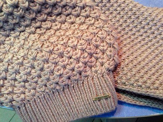 узор, связанный спицами для вязания зимних шапок