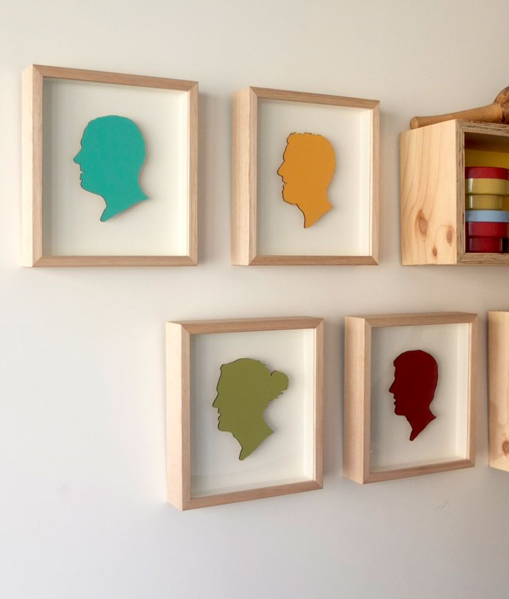 Mottram Boys framed and hung with an arrangement of shadow boxes. www.cheekbyjowldesign.com