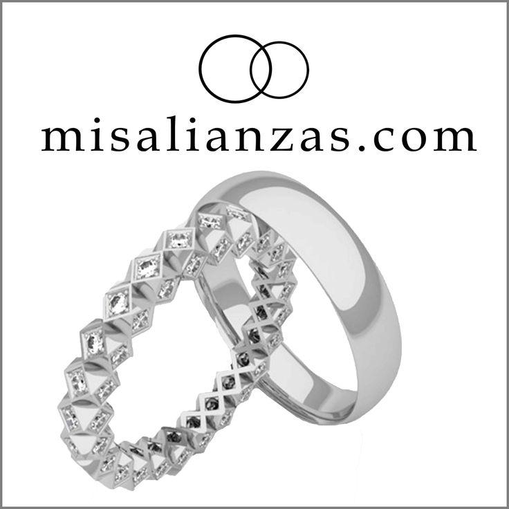 #Alianzas únicas y originales, diseño exclusivo de #misalianzas.com #boda #complementos #lujo #diamantes