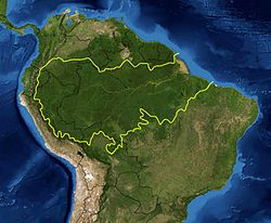 Mapa da Floresta Amazônica