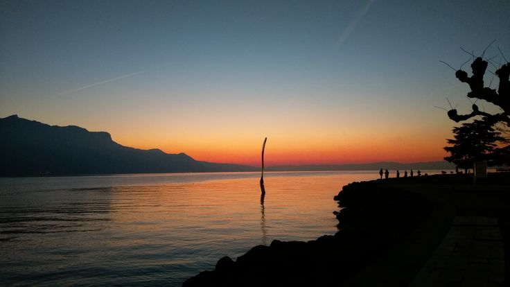 Lac Léman depuis Vevey.
