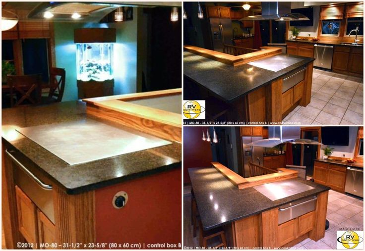 "A beautiful custom design from 2012 by RV Outfitters featuring our Cook-N-Dine Teppanyaki model MO-80; a built in 31.5""x 23-5/8""."